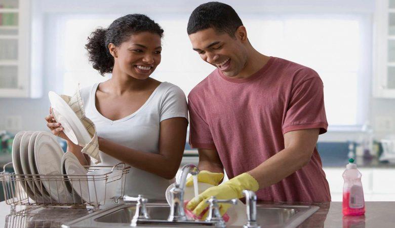 Aprendendo como lavar louça