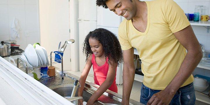 Como lavar louça mais rápido