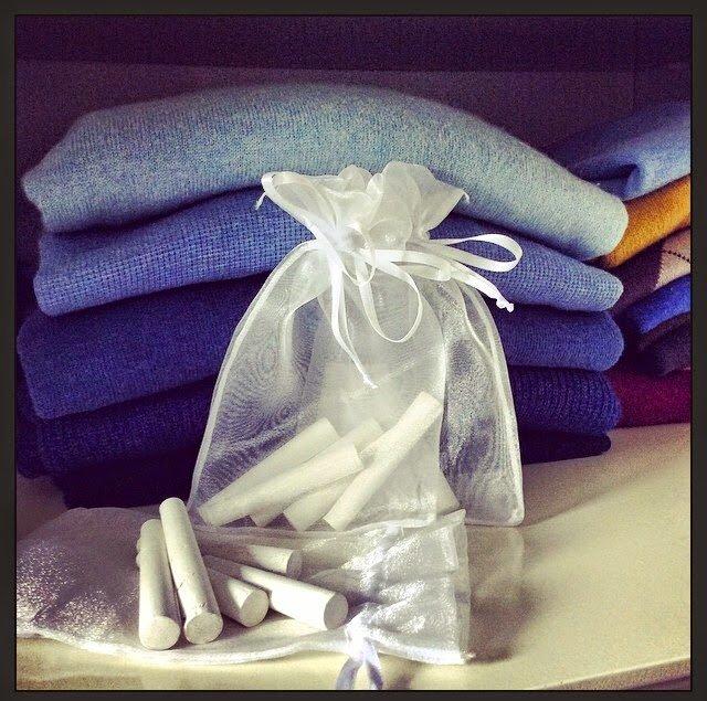 Giz: uma solução barata para combater o mofo nos armários