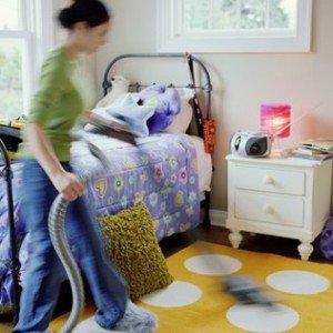 Limpando o quarto