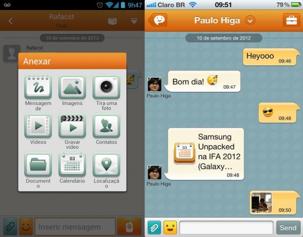 Aplicativo ChatOn da Samsung