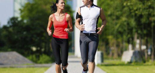 casal correndo tenis