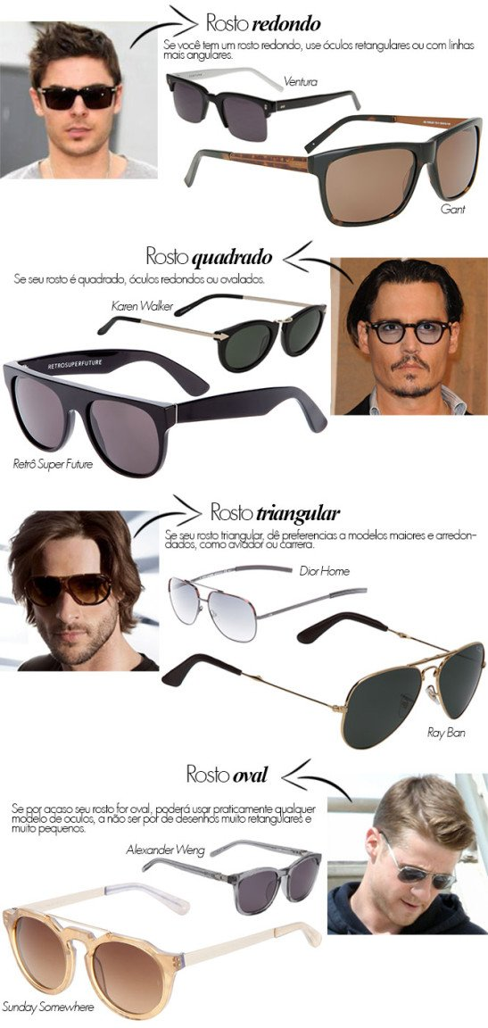 0cbd4c64f Como escolher óculos escuros para homens | Guia dos Solteiros