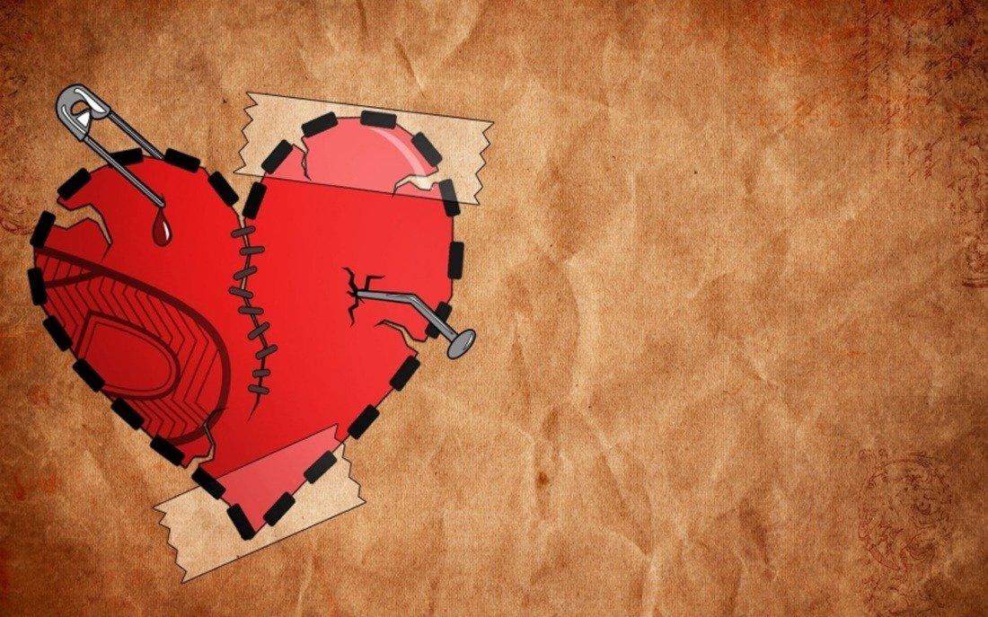 Coração partido com o fim do relacionamento