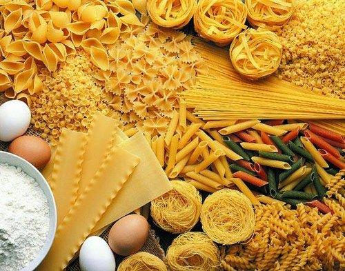 Ingredientes do macarrão