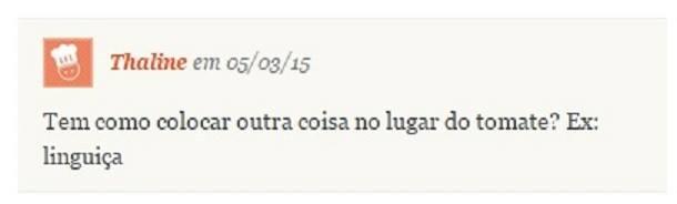 Comentário do site