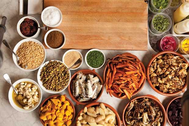 Misenplace - ingredientes na mesa
