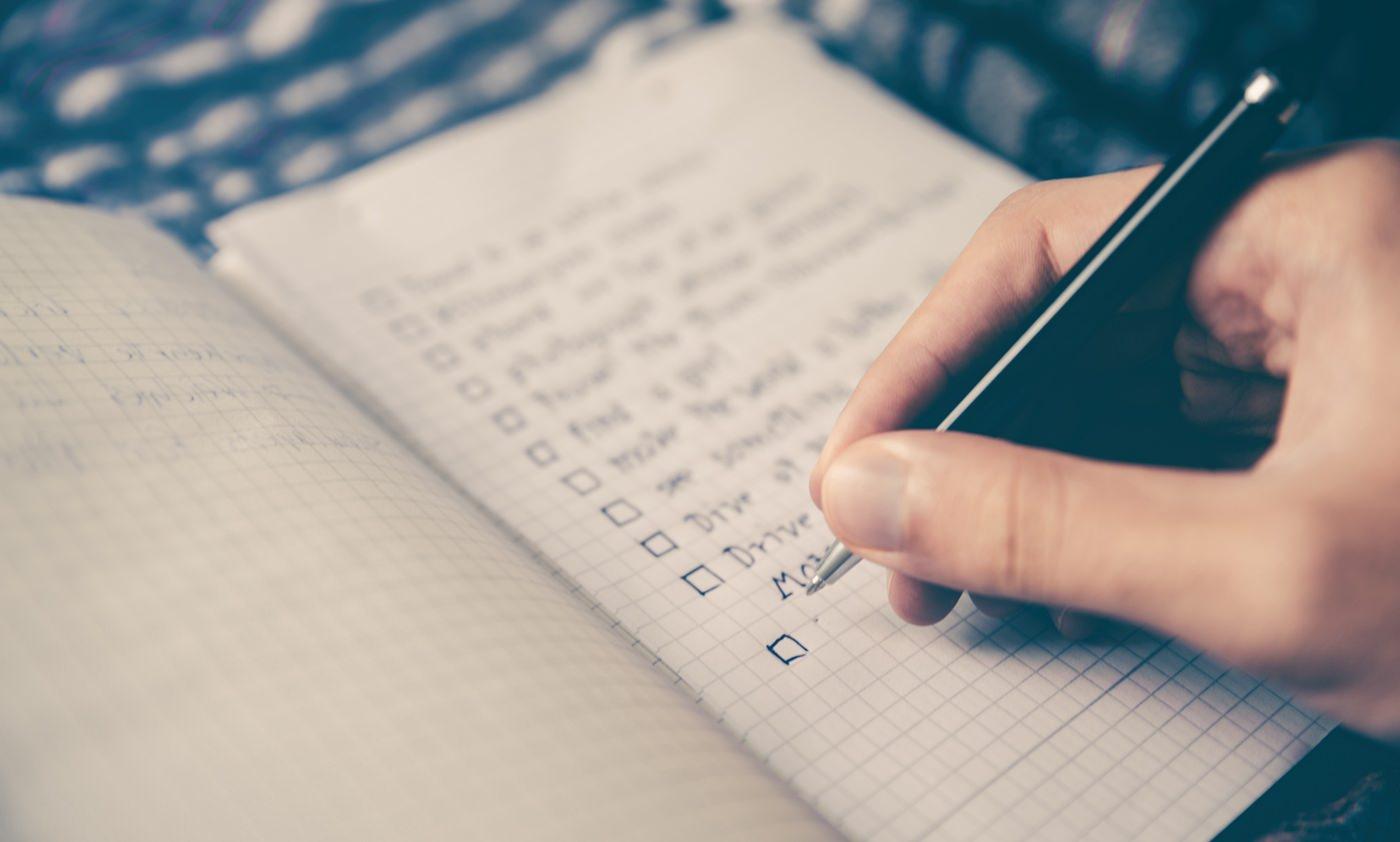Mudança de hábitos pode começar com criação de lista