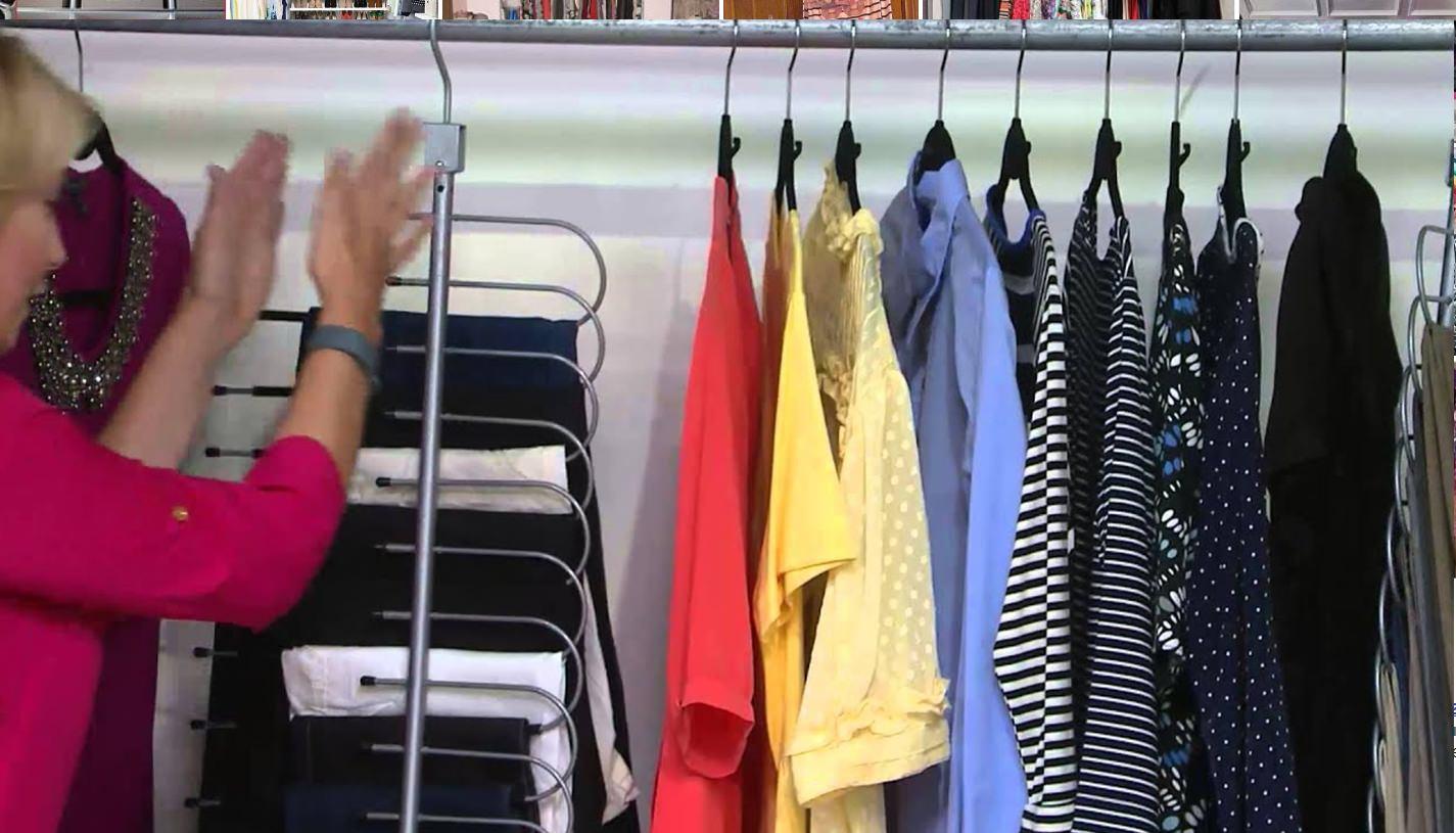 Organizando roupas e sapatos