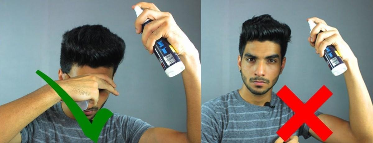 Usando corretamente o spray para cabelo masculino