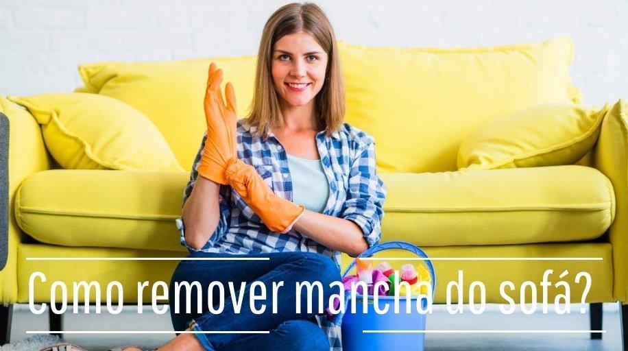 Removendo as manchas do sofá