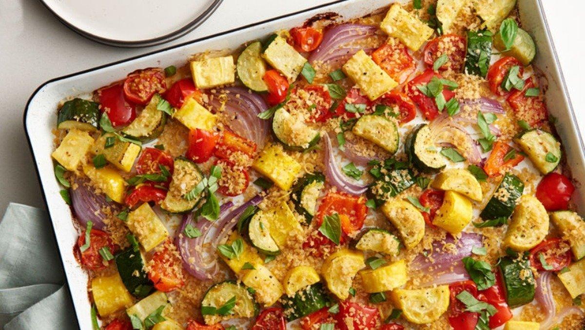 Receita de legumes ao forno