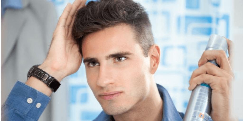 Spray para cabelo masculino