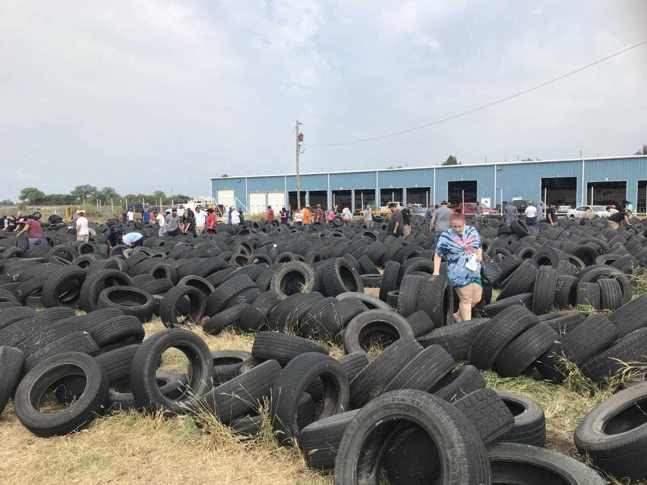O tamanho do pneu usado determina os diâmetros do puff