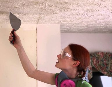 Removendo textura da parede