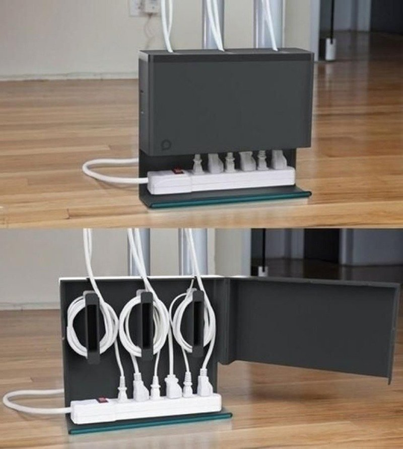 Caixa organizadora de fios e cabos
