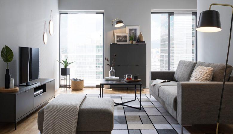 Arrumando os móveis para uma sala pequena
