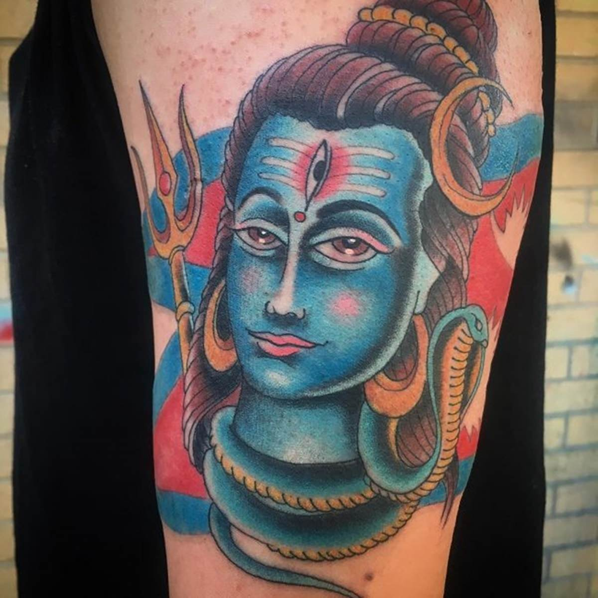 Tatuagem feminina indiana de Shiva