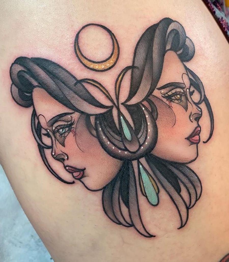 Outra tatuagens do signo de gêmeos