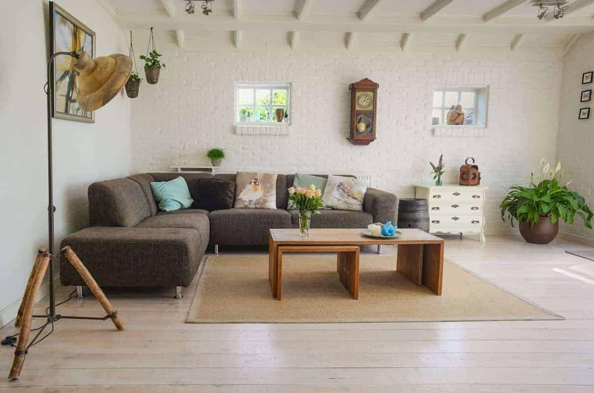 Decoração de apartamento em tons suaves