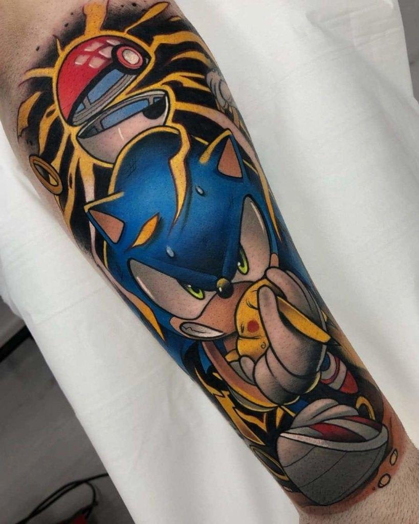 Tatuagem game do Sonic