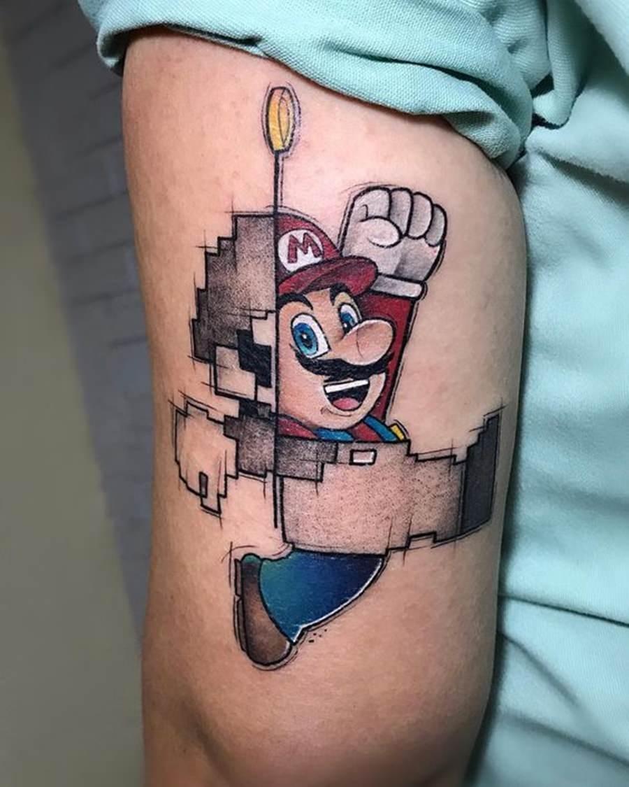 Tatto do Mario no braço