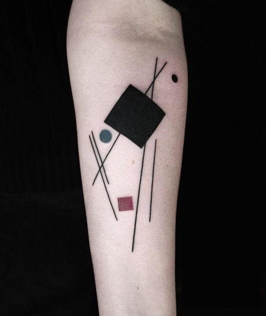 Tattoo geometria abstrata