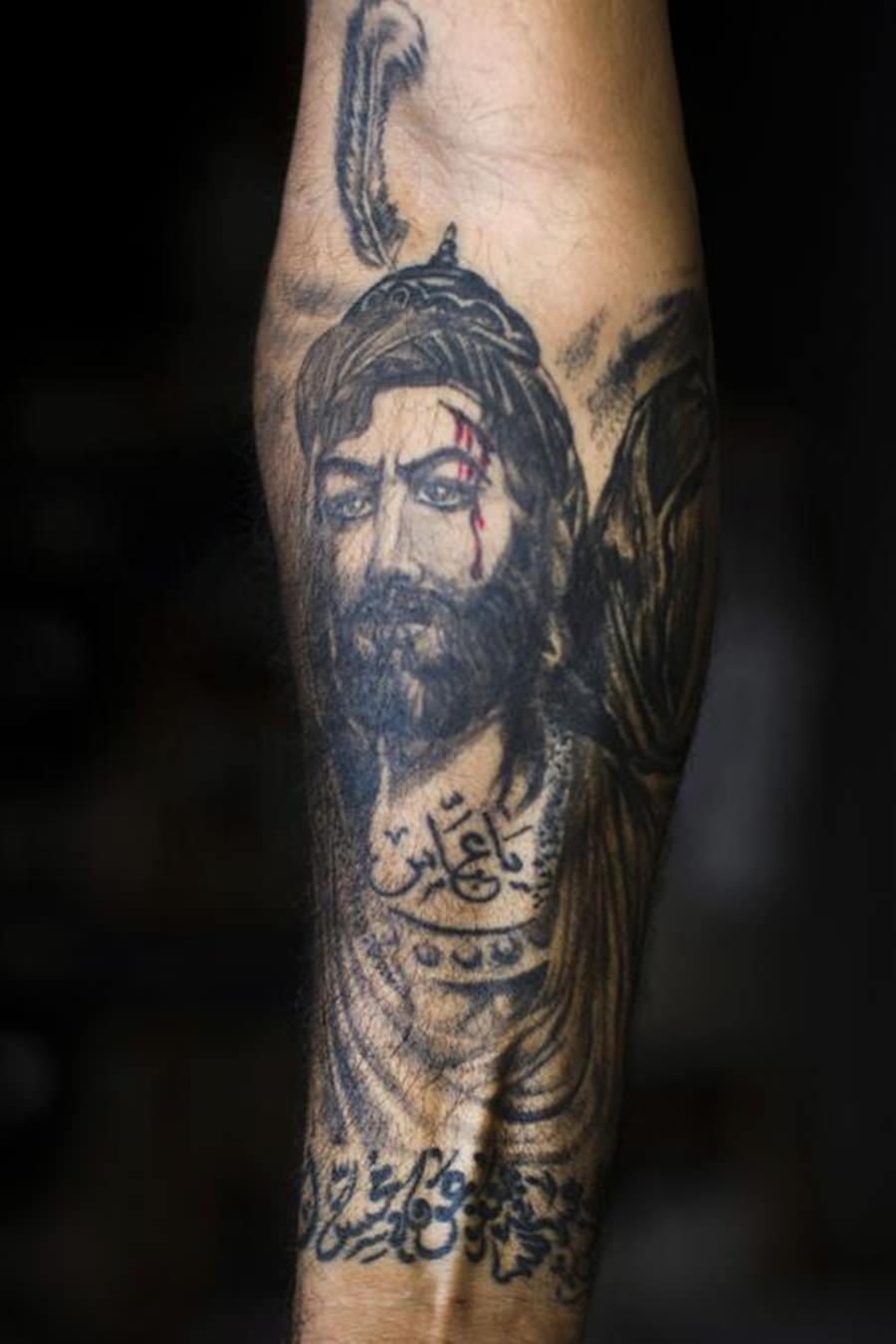 Tatuagem religiosa representativo ao Islã