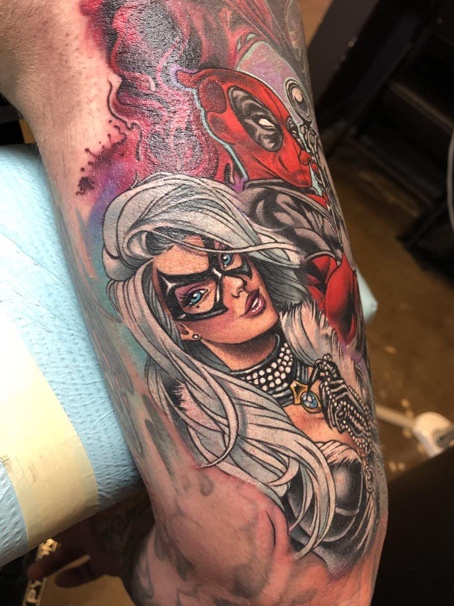 Tatuagem da anti herói Mulher Gato