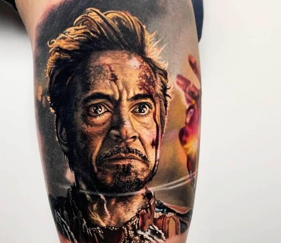 Tatuagem do Homem de Ferro em seu último combate
